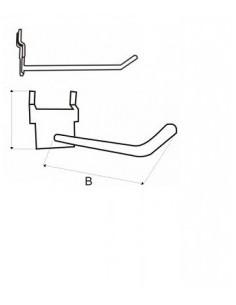 Display hook 3,7x 8 (AxB)