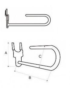 Display hook 3,7x8,5x2,5...
