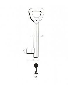 Key blank Hobes29 7mm