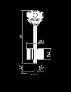 Key blank SAM-1G 2SMA3...
