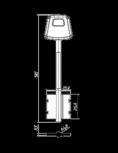 Key blank CISA-2PL