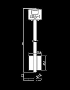 Key blank CI-3G 2CI2 CSLC...