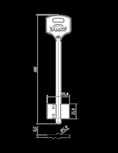 Key blank X X X X ELBOR-15