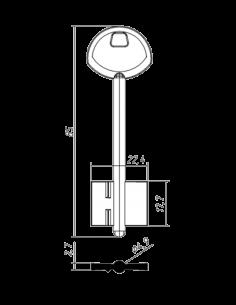 Key blank X X  X GARDIAN-2