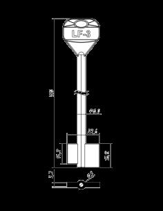 Key blank X X X X LF-3