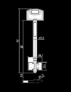 Key blank SKM5D